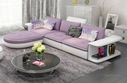 Modern Style Timiyore Leather Purple Corner Sofa
