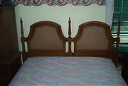 FULL SIZE BED W/MATTRESS,  DRESSER,  MIRROR,  CHEST OF DRAWERS $195 OBO