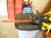 almost new hedge trimmers,  used 2 times,  moving need to sell